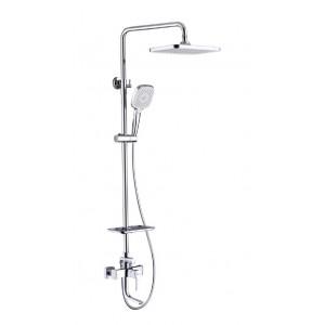 """Смеситель для ванны и душа с верхней душевой лейкой """"Тропический дождь"""" Lemark Evitta LM0562C"""