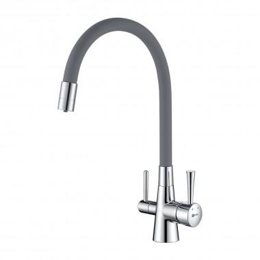 Смеситель Lemark Comfort LM3075C-Gray для кухни с подключением к фильтру с питьевой водой