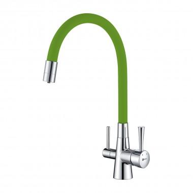Смеситель Lemark Comfort LM3075C-Green для кухни с подключением к фильтру с питьевой водой