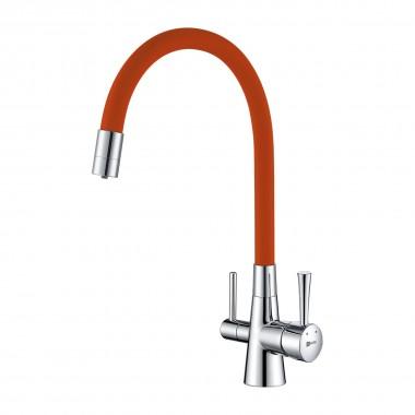 Смеситель Lemark Comfort LM3075C-Orange для кухни с подключением к фильтру с питьевой водой