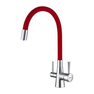 Смеситель Lemark Comfort LM3075C-Red для кухни с подключением к фильтру с питьевой водой