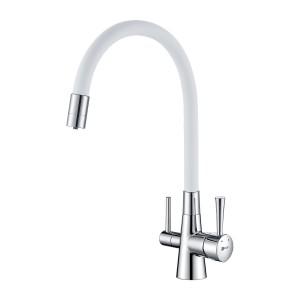 Смеситель Lemark Comfort LM3075C-White для кухни с подключением к фильтру с питьевой водой