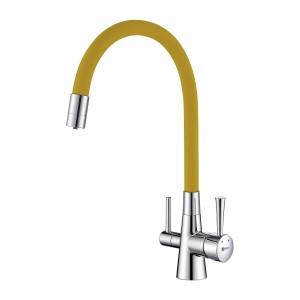 Смеситель Lemark Comfort LM3075C-Yellow для кухни с подключением к фильтру с питьевой водой