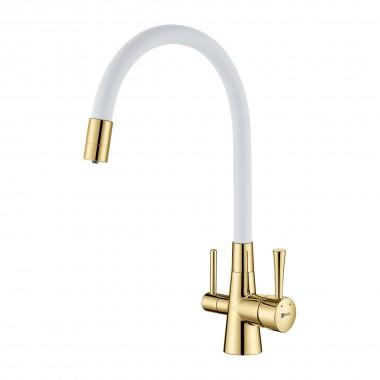 Смеситель Lemark Comfort LM3075G-White для кухни с подключением к фильтру с питьевой водой