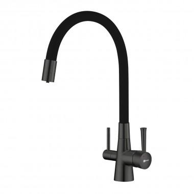 Смеситель Lemark Comfort LM3075GM для кухни с подключением к фильтру с питьевой водой
