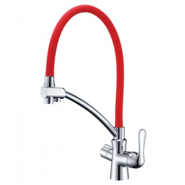 Смеситель для кухни с подключением к фильтру с питьевой водой COMFORT – LM3070C-Red