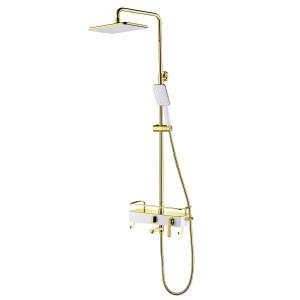 """Смеситель для ванны и душа и верхней душевой лейкой """"Тропический дождь"""" MISTA – LM6462WG"""