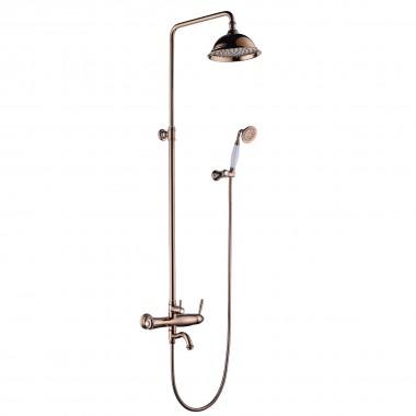 """Смеситель для ванны и душа и верхней душевой лейкой """"Тропический дождь"""" SPARK – LM6762RG"""