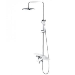Смеситель для ванны и душа с лейкой «Тропический дождь» TROPIC LM7003C