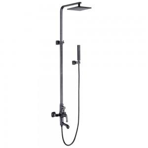 Смеситель для ванны и душа верхней душевой лейкой «Тропический дождь» NUBIRA LM6262ORB
