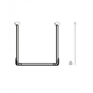Карниз для штор ванных комнат, U-образный, белый – RUA1801
