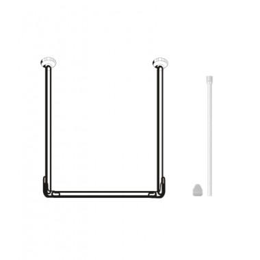 Карниз для штор ванных комнат, U-образный, белый – RUA2001