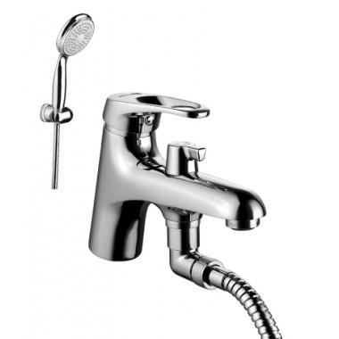 Смеситель на борт ванны с монолитным изливом OMEGA – LM3115C